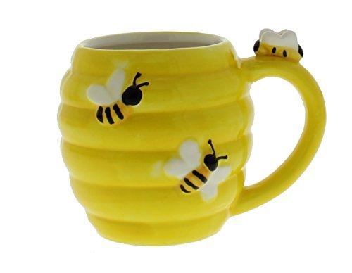 Whimsical Figural Beehive Bee Ceramic Coffee Mug Bee Mug