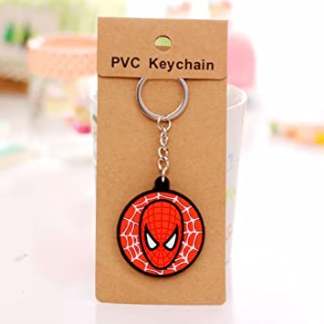 Cute Carton Character Spiderman - Llavero: Amazon.es: Hogar