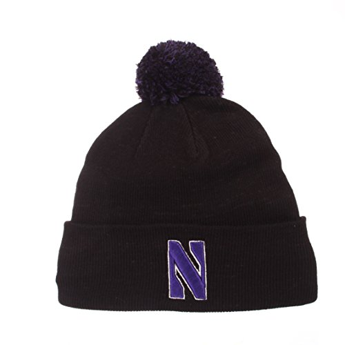 b39f4dfea14 The pom beanie is our classic cuffed pom knit featuring high quality 3D  embroidery and a. Zephyr NCAA Northwestern Wildcats ...