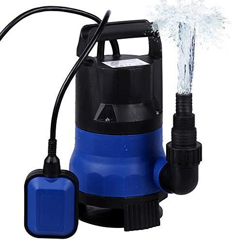 - Ruyiot Sump Pump 1/2HP Submersible Clean Dirty Water Pump For Swimming Pool Drain (Blue)