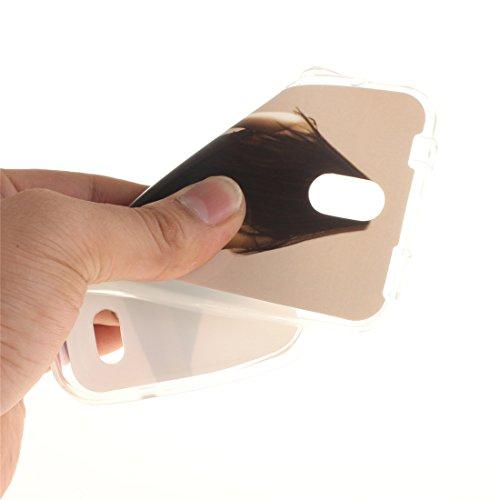 Slim Fit Résistant Protection Transparent Antichoc Bord De Huawei Hozor En Couverture De beauty Scratch TPU Cas Y625 Arrière Motif Peint Silicone Téléphone Souple Cas wPZ4qw7