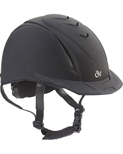 Ovation Girls' Schooler Deluxe Riding Helmet Black S/M (Girl Black Helmet)