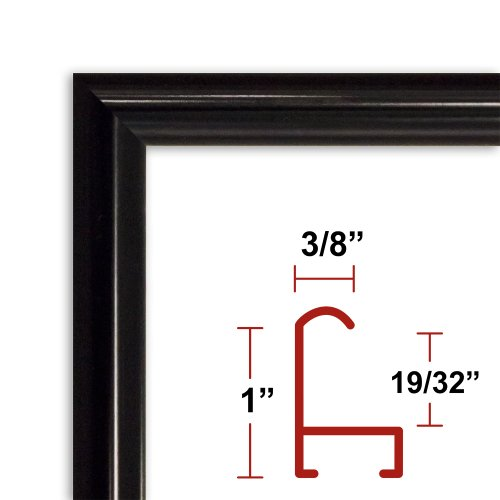 39 x 55 Shiny Black Poster Frame - Profile: #15 Custom Size Picture Frame (Frame For 55 X 39 compare prices)