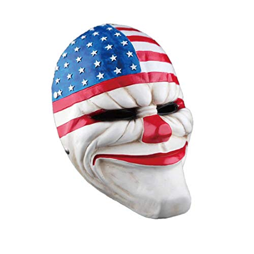 Hotcoser Payday 2 Dallas Mask Joker Masks Resin Costume Halloween Cosplay for Adult White]()