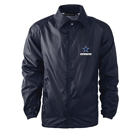 Dunbrooke Apparel NFL Dallas Cowboys Men's Coaches Windbreaker Jacket, Large, Navy ()