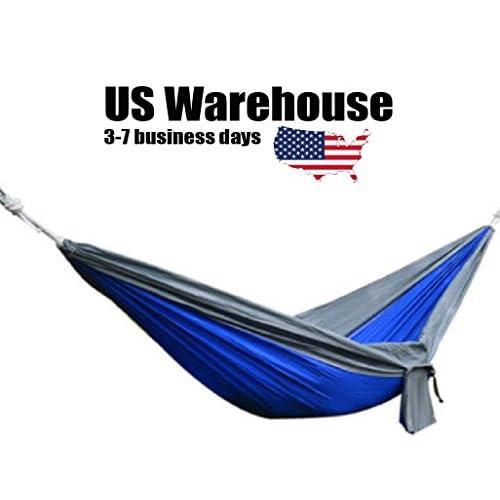 270x 140cm Portable Parachute Hamac Nylon Lit double Swing pour camping randonnée Voyage [US entrepôt] par Shopidea