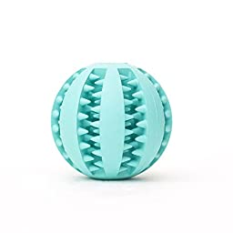 Coevals Club Pet Dog Treat Slow Feed Ball, Interactive IQ Non-Toxic Rubber Dental Treat Tooth Cleaning Toy for Dogs Training Playing Chewing (2.8\