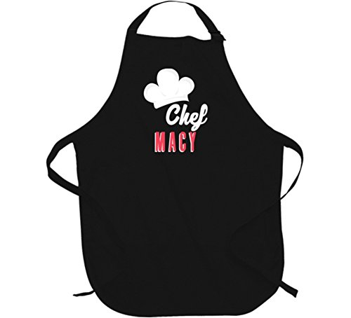 Chef Macy Custom Name Cooking Kitchen Grill BBQ Mom Gift Apron L - Macys Mens Gifts