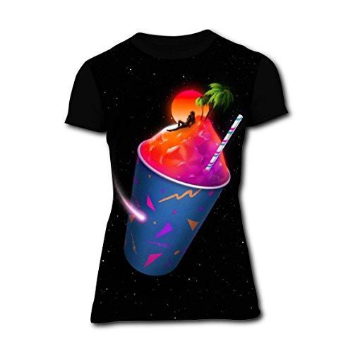 Hawaii Ice Cream Sun Womens Slim Tshirt 3D Printed Tee Top L