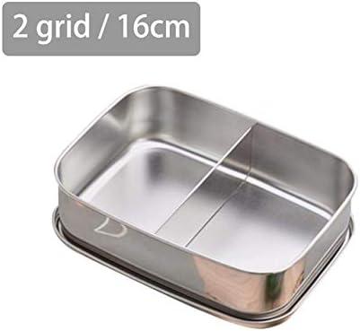 WUDAYI Fiambrera Hermeticos Caja de almuerzo de acero inoxidable BPA caja de pan flexible caja de almuerzo de metal de separación sostenible adecuado para el turismo de senderismo #CO D: Amazon.es: Hogar