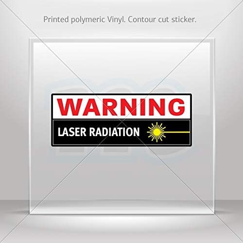 (Signs Various sizes Decal Stickers Warning Laser Radiation Hobbies Motorbike Vehicle Table (3 X 1.13 Inches))