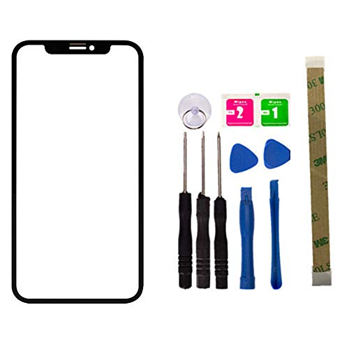 Original - Replacement Screen Repair Front Outer Top Glass Lens Cover for iPhone XR 6.1 inch Mobile Phone Parts and Adhesive Tools (No LCD and Touch Digitizer) (Iphone 4 Front And Back Glass Replacement Kit)