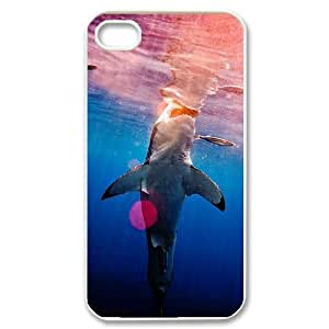 ANCASE Customized Print Deep Sea Shark Pattern Back Case for iPhone 4/4S