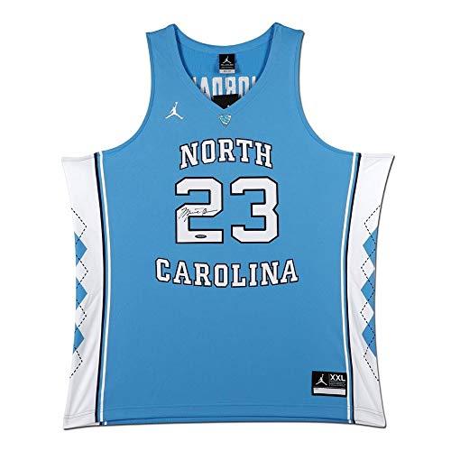 f85bc6be1619c3 Michael Jordan Signed Autographed North Carolina Blue Jersey UNC Bulls UDA
