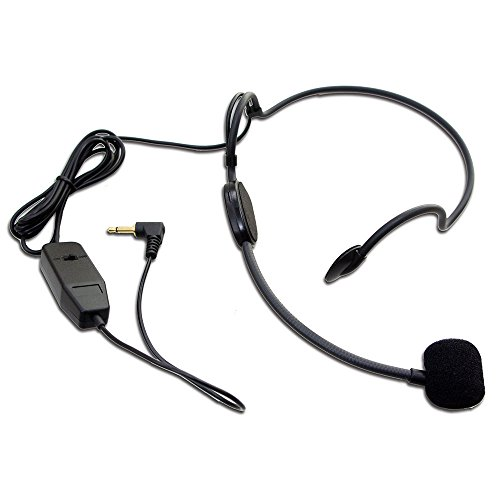 Maker hart HS01 Headset Microphone/3.5mm/with Battery,Easy For Presentations/Live Stream/Education ()