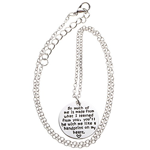 Harleya Teacher Gifts,Christmas Gifts for Teacher Personalized Teacher Jewelry Appreciation Gifts Necklace