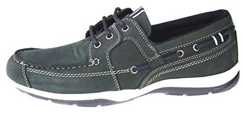 Dargle Herren, Rot, Marineblau, aus Leder, slip-on, Komfortable Freizeitjogger Boot UK 7, 8, 9, 10, 11 Marineblau
