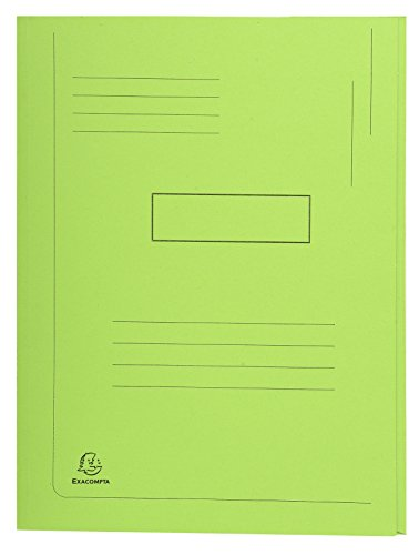 (Exacompta Forever 24 x 32 cm Recycled Pre-Printed 2 Flap Folder, 290 g, Green, Pack of 50)