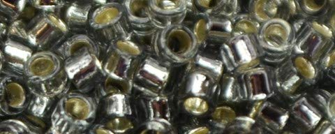 (Toho Aiko Cylinder Seed Bead - TB-0029 - Silver Lined Light Blk Diamond (5 Grams))