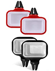 Auch 4PCSIn-Car Sauce Cup Holder Dip Clip Set Ketchup Mini Dipping Cups for Car Accessories