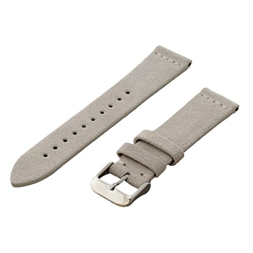 Benchmark Straps Tan Suede Leather Watchband | 18mm, 20mm & 22mm (20mm, Tan)