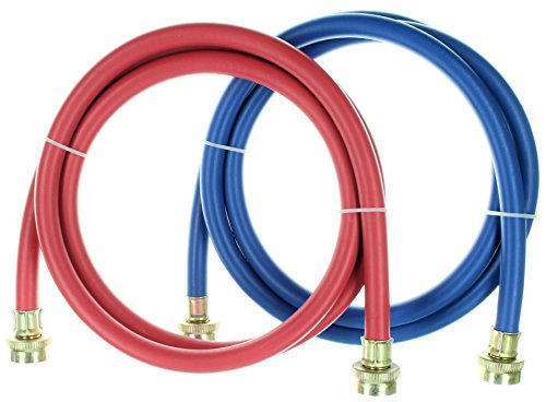 Kelaro Rubber Washing Machine Hoses 6 ft Long (2 Pack) - Color Coded