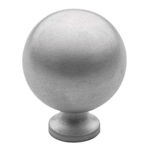 Spherical Design Solid Brass Cabinet - Baldwin 4961.264.BIN Spherical Design 1-1/4-Inch Diameter Cabinet Knob, Satin Chrome