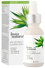 InstaNatural's Age-Defying & Skin Clearing Serum is the perfect solution to address a wide array of skin issues: - Wrinkles & fine lines - Blemishes & irritated skin - Dry, dehydrated skin - Uneven skin tone - Hyperpigmentation - ...