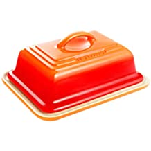 Le Creuset of America Heritage Stoneware Butter Dish, Flame