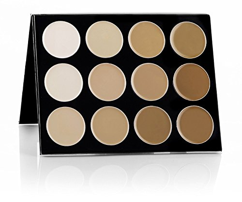 Mehron Makeup Celebre Pro-HD Cream Face Body Makeup, 12 Color Foundation Palette