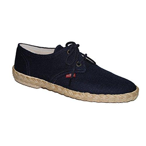 Lacets de chaussures de toile Festival en bleu marine