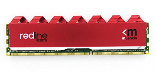 Mushkin Redline Series - DDR4 DRAM - 16GB (2x8GB) Memory Kit DIMM - 2666MHz (PC4-21300) CL-16 - 288-pin 1.2V Desktop RAM - Non-ECC - Dual-Channel - FrostByte G3 Red Heatsink - MRA4U266GHHF8GX2