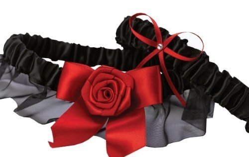 Midnight Rose Garter Set by Exclusively Weddings ()