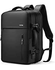 HOMIEE 38L Expandable Travel Laptop Backpack, Flight Approved Carry-On Luggage Backpack, 15.6 Inch Waterproof Backpack for Men and Women, Large Capacity College Backpack,Black