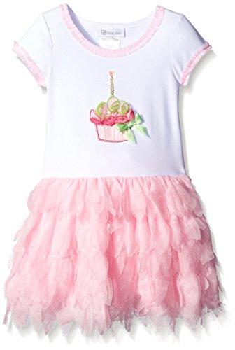 Bonnie Jean Toddler Girls Cupcake Mesh Petal Skirt Dress, Pink, 3T (Cupcake Denim)