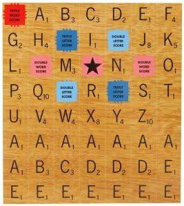 Scrabble imán de nevera imanes – este juego ha más de 100 fichas magnéticas y características el conjunto completo de Scrabble Y Triple palabra, Triple carta y doble palabra puntuación azulejos. (Pack