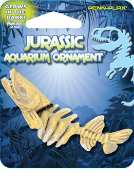 Penn Plax Jurassic Aquarium Ornament - Mini Barracuda Skeleton