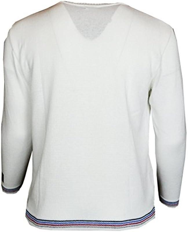 Paolo Deluxe wyrazisty męski sweter okrągły dekolt: Odzież