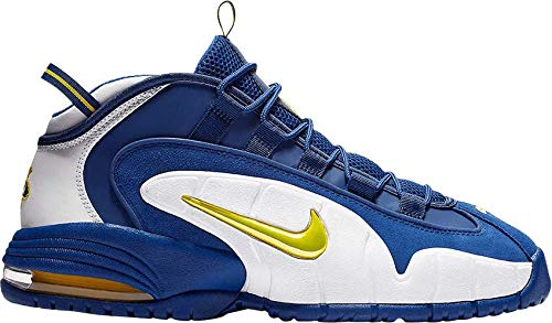 Nike Men's Air Max Penny I Warriors Blue/White/Gold Basketball Shoes 685153 401 Size 14