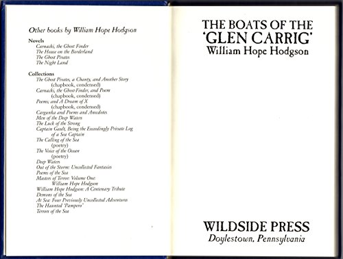 Book cover from The Boats of the Glen Carrig (hardcover) by William Hope Hodgson