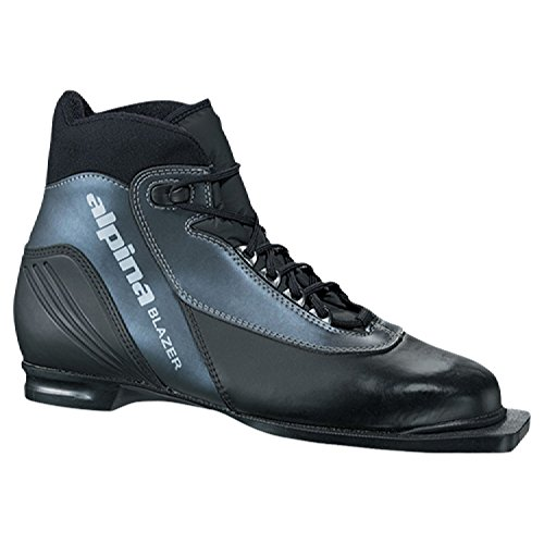 Alpina Blazer Cross-Country Nordic Classic Ski Boots with 3-Pin Soles, Black,