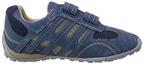Geox JR SNAKE BOY B - zapatilla deportiva de cuero niño azul - Blau (AVIO/BEIGEC4289)
