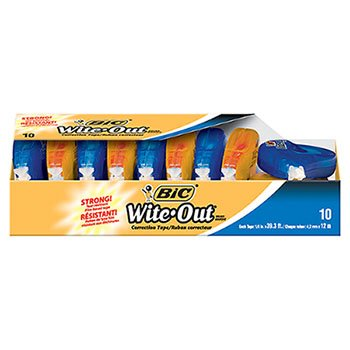 BICWOTAP10 - BIC Wite-Out EZ Correct Correction Tape by BIC (Image #1)