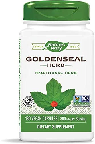 Nature s Way Premium Herbal Goldenseal Herb 400 mg, 180 Vcaps