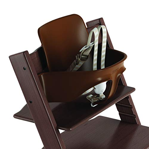 (Stokke 2019 Tripp Trapp Baby Set, Includes Harness, Walnut Brown)
