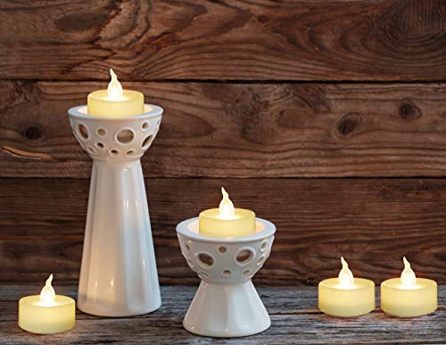 Homemory 100PCS Battery Operated Tealights Warm White LED Flameless Flickering Tea Lights Bulk by Homemory (Image #3)