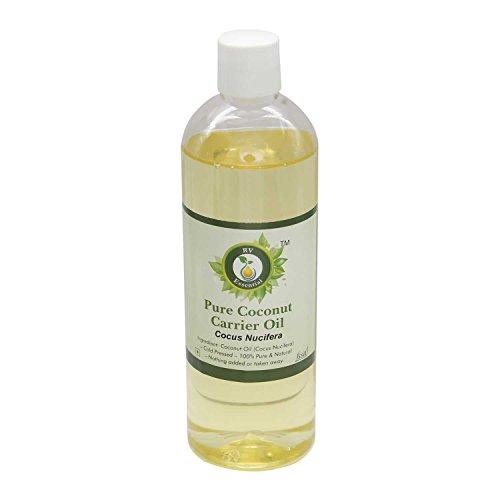 R V Essential Pura de coco aceite del portador de 5ml (0.169 oz)- Cocus nucifera (100% pura y fría natural prensada) Pure...