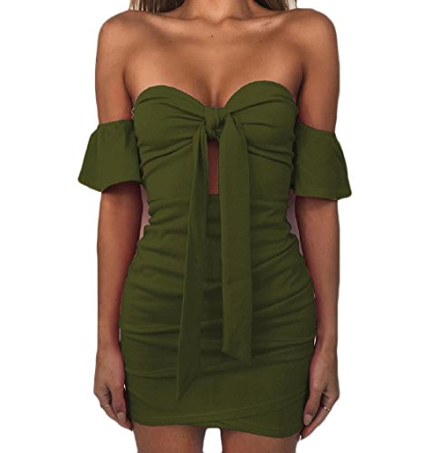 Green Bandage Pure Women Tube Package Dress Army Color Coolred Backless Hip Sexy 6qAwZxxP