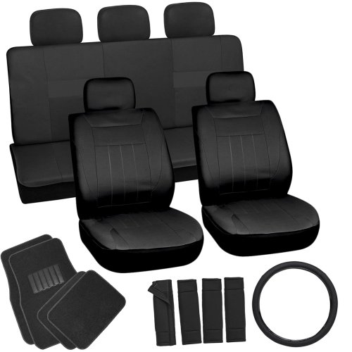 oxgord-21pc-solid-black-flat-cloth-seat-cover-and-carpet-floor-mat-set-for-the-saturn-aura-sedan-air