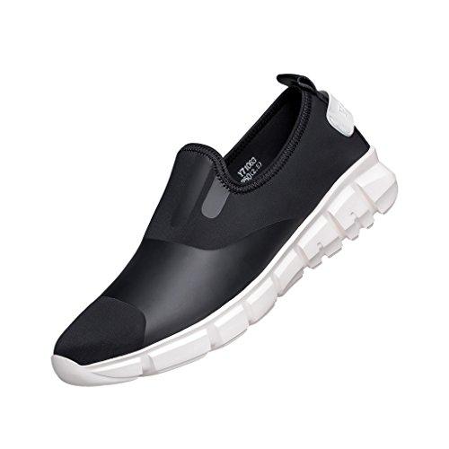 Zro Herenmode Sneaker Instapperige Wandelschoen Zwart